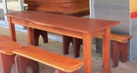 Outdoor slab timber furniture