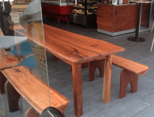 Timber table and bench seat