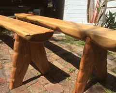 Outdoor timber bench seat