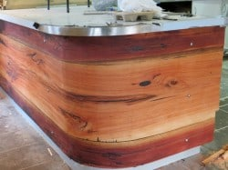 Curved bar installed