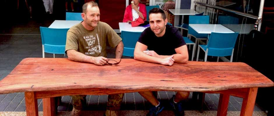 Timber Slab Furniture Dining Tables kitchen Bench tops  : timber outdoor table from www.amazingtimberslabs.com.au size 940 x 400 jpeg 44kB