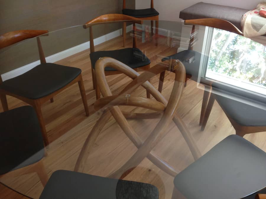 Curved Table Legs Timber Furniture Sydney
