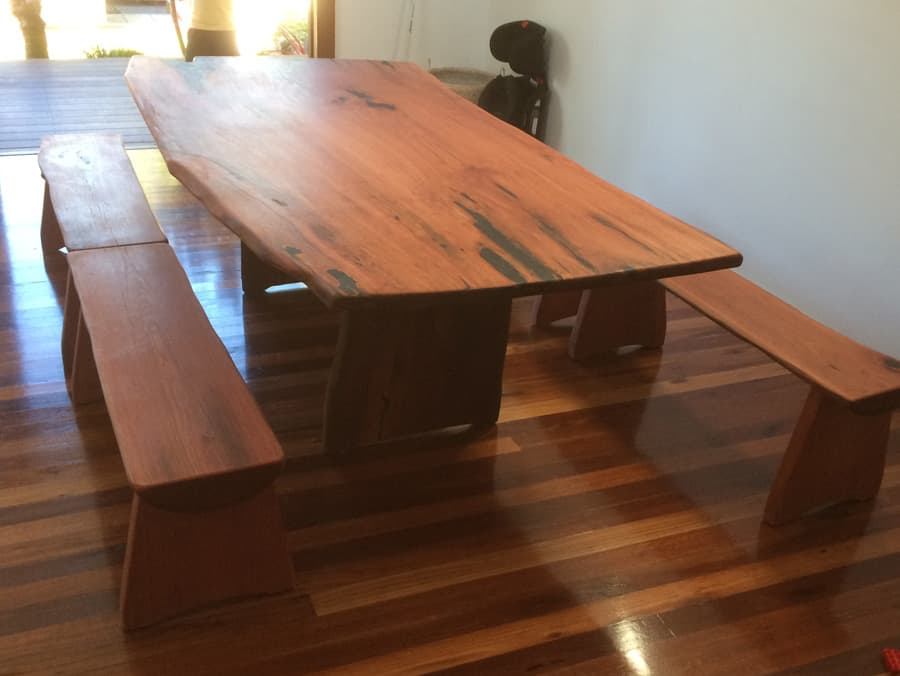 Dingint Table With Bench Seating Hardwood Dining