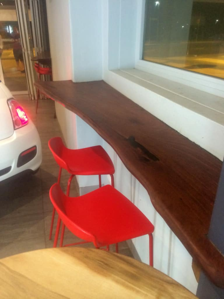 cafe bench
