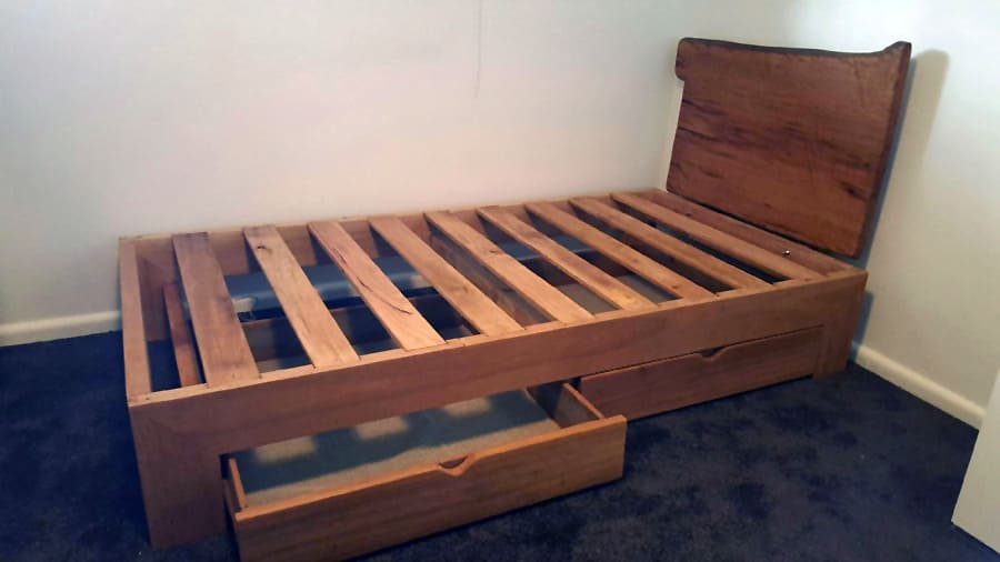 Custom timber bed frame | Timber Furniture Sydney