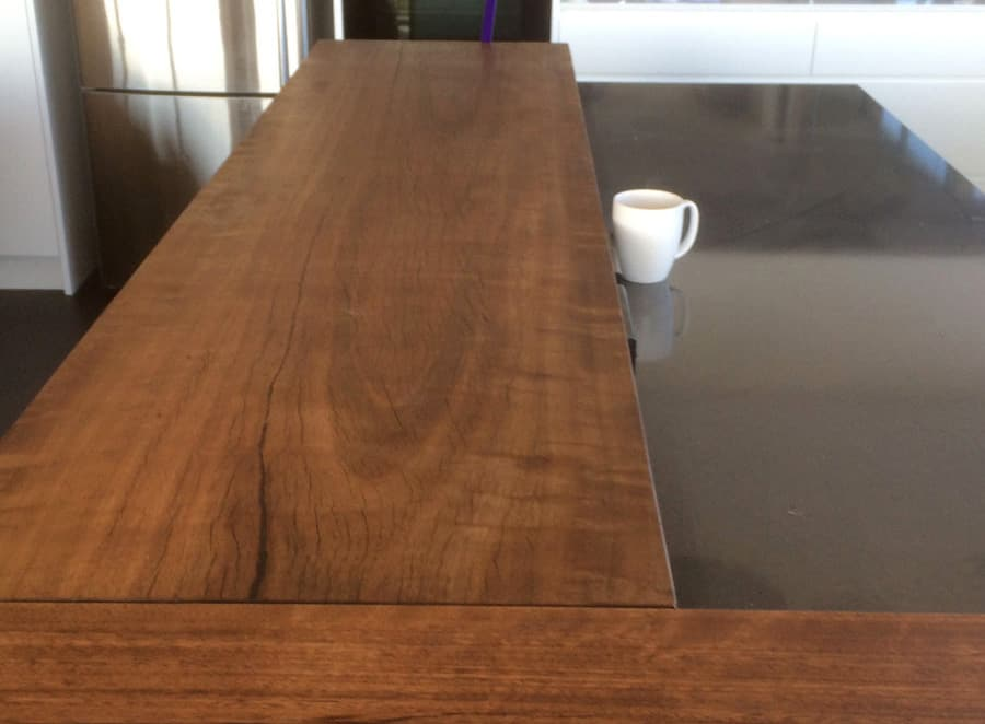 Black Butt Kitchen Bench Top Timber Furniture Sydney