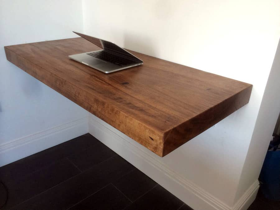 Timber slab floating shelve timber furniture sydney