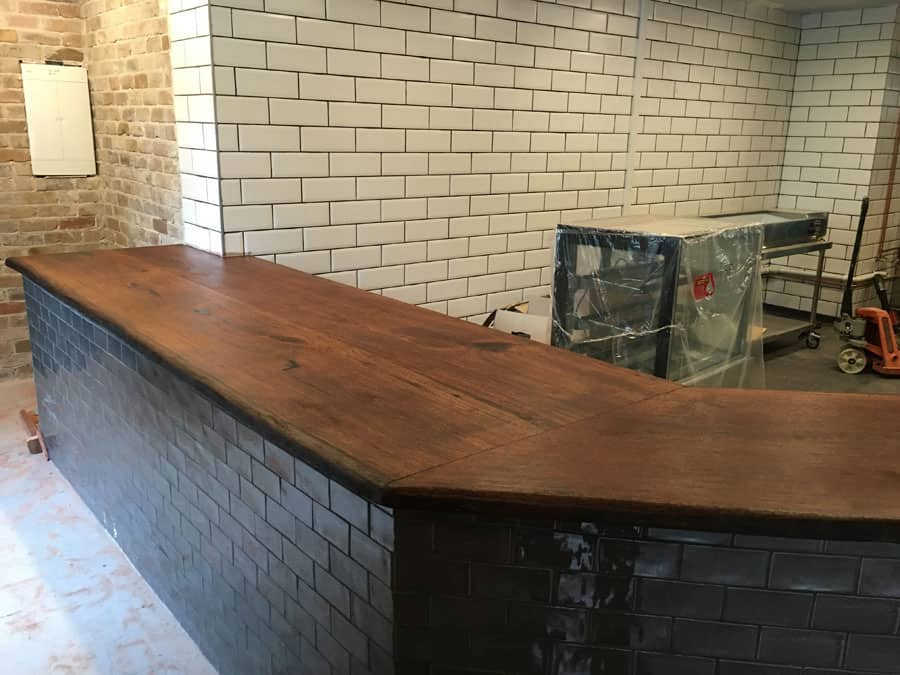 timber slab bench tops