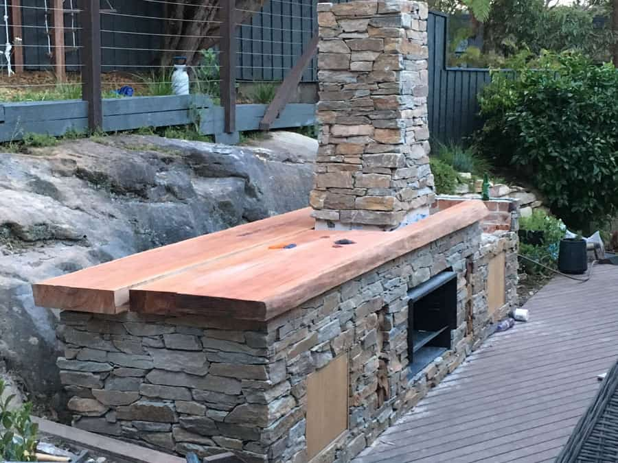 Out Door Bbq Benchtop13 Timber Furniture Sydney