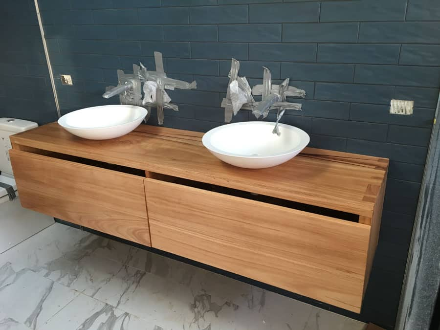 Bathroom Twin Bowl Vanity Unit Timber Furniture Sydney
