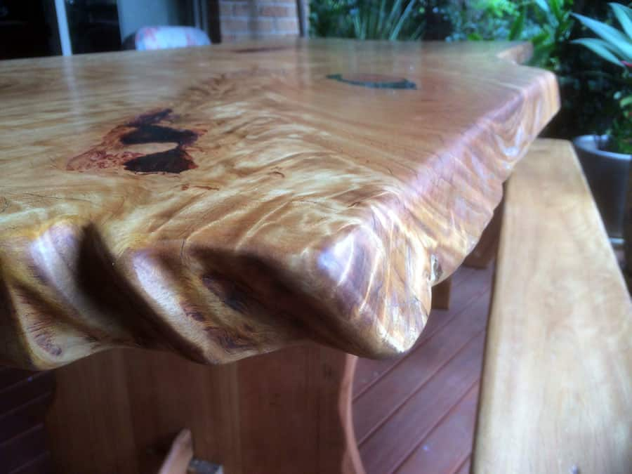 black butt dining table live edge